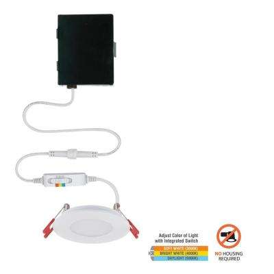 Ultra Slim 3 in. Color Selectable Canless LED Recessed Kit