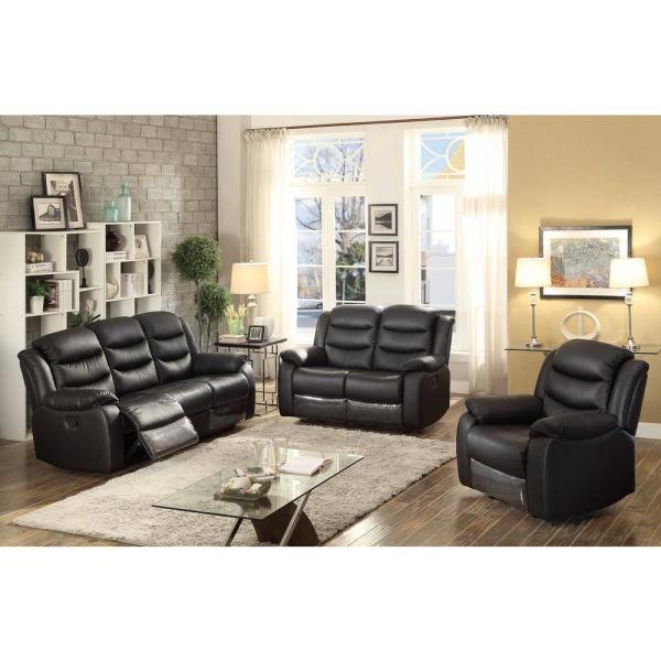 Remarkable Ac Pacific Bennett Leather Upholstered Transitional 3 Piece Dailytribune Chair Design For Home Dailytribuneorg