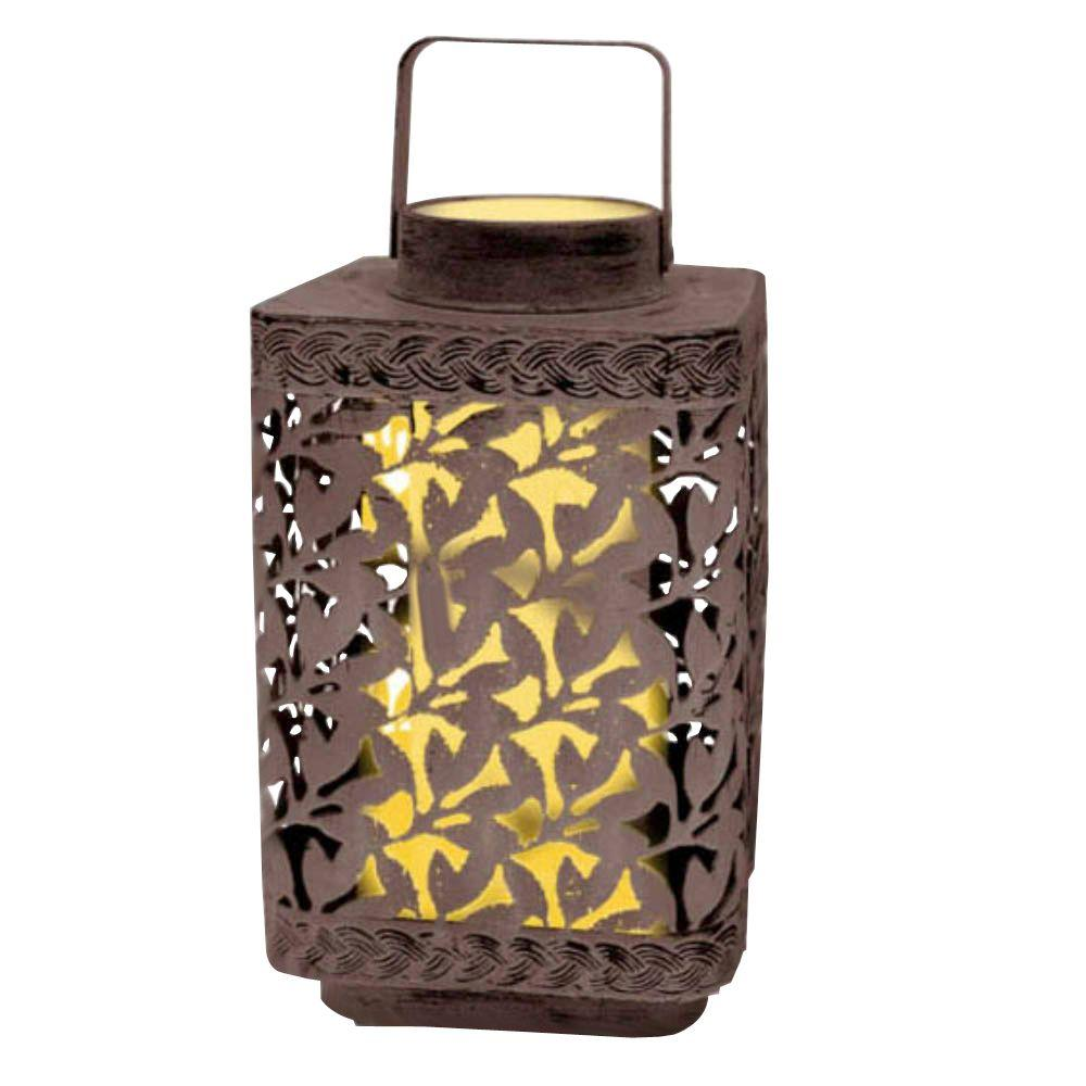 null 10 in. Solar Leaf Cluster Lantern with White Light-DISCONTINUED