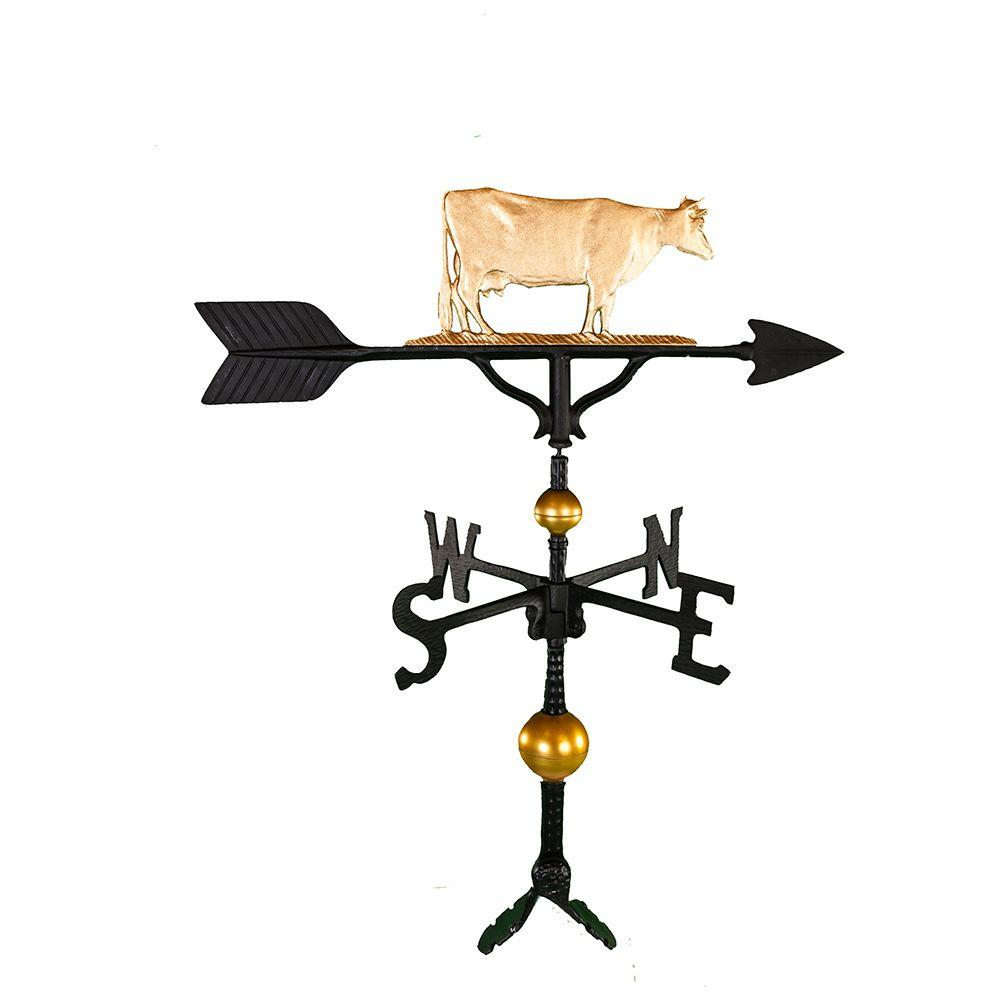 Montague Metal Products 32 in. Deluxe Gold Cow Weathervane