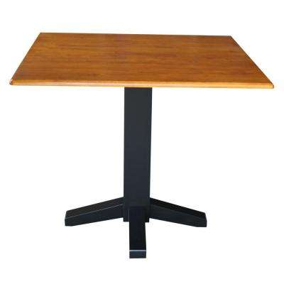 Black and Cherry Skirted Dining Table