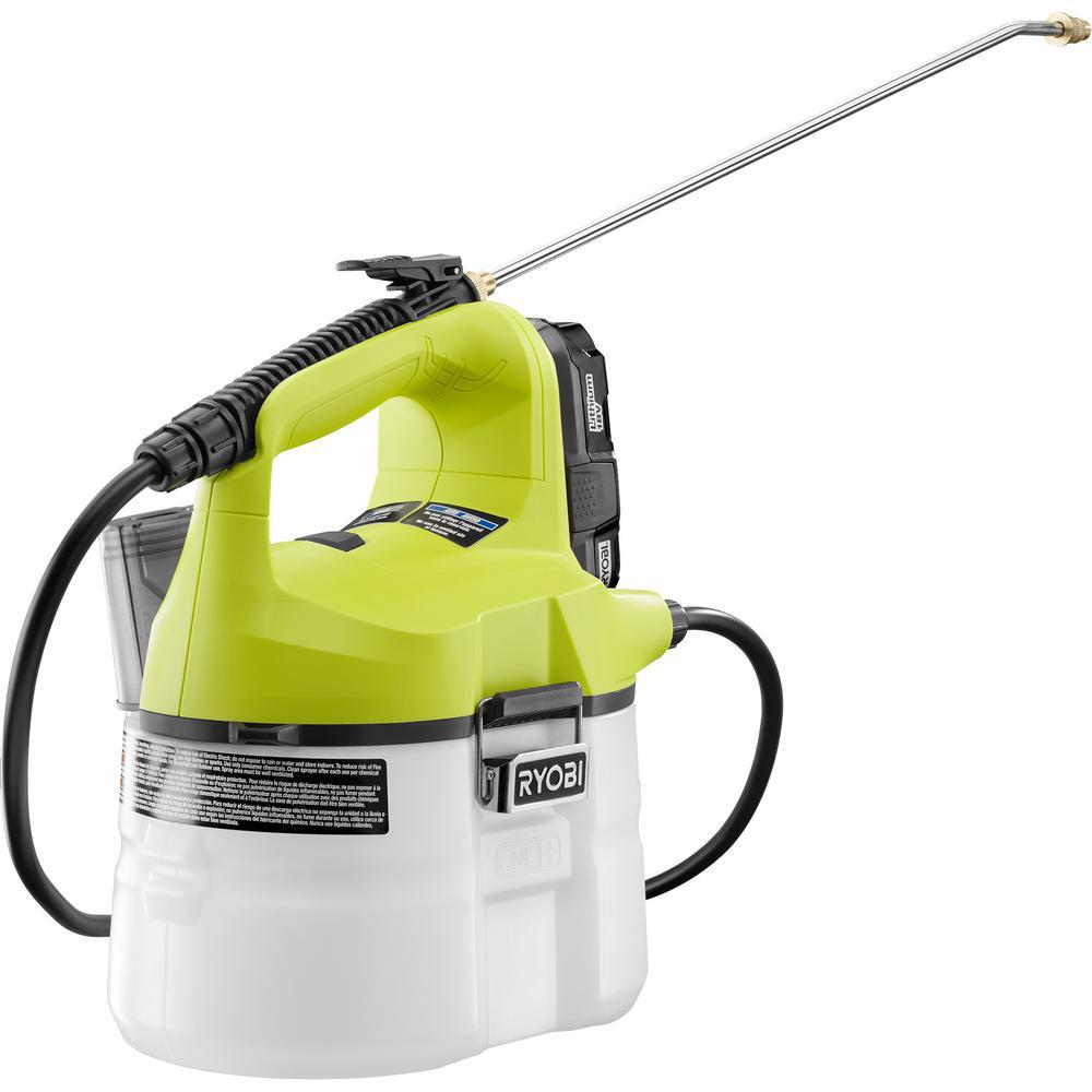 Ryobi ONE+ 18 Volt Lithium Ion Cordless Chemical Sprayer   1.3 Ah Battery  And