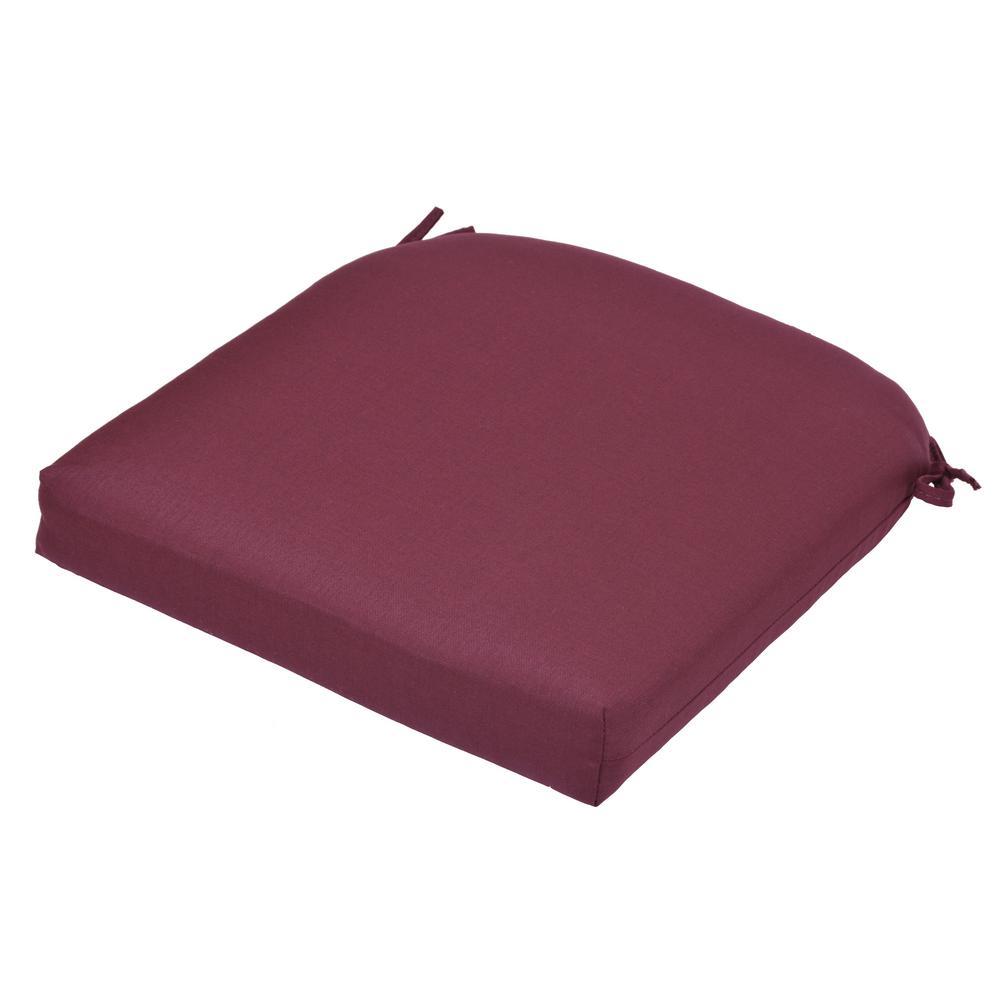 Hampton Bay 21 X 21 Outdoor Chair Cushion In Standard Aubergine 8399