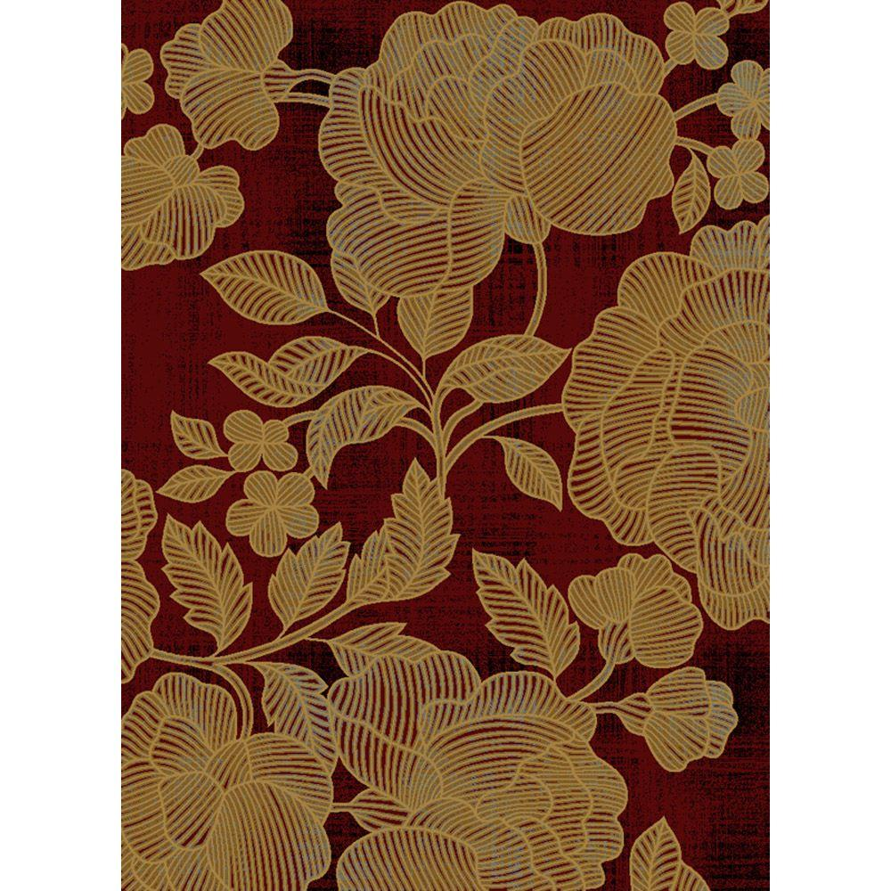 Home Dynamix Bazaar Cas Red 7 ft. 10 in. x 10 ft. 1 in. Area Rug - DISCONTINUED
