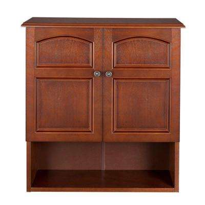 Martha 22-3/10 in. W x 25 in. H x 8 in. D Bathroom Storage Wall Cabinet in Mahogany Color