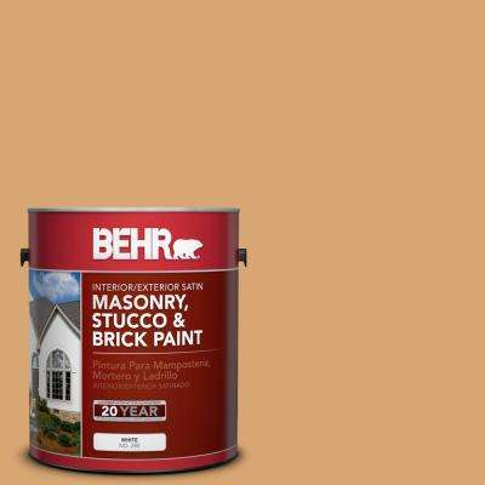 1 gal. #M250-4 Cake Spice Satin Interior/Exterior Masonry, Stucco and Brick Paint