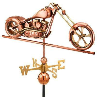 Polished Copper Chopper Weathervane