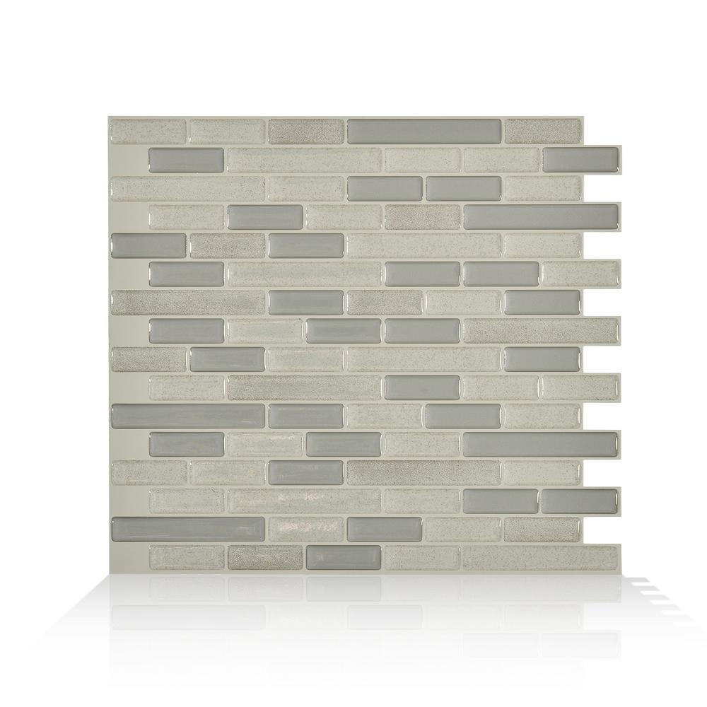 Smart Tiles Muretto Beige 1025 In W X 9125 In H Peel And Stick
