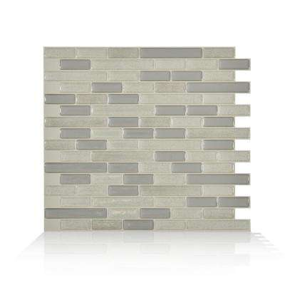 Muretto Beige 10.25 in. W x 9.125 in. H Peel and Stick Self-Adhesive Decorative Mosaic Wall Tile Backsplash (12-Pack)