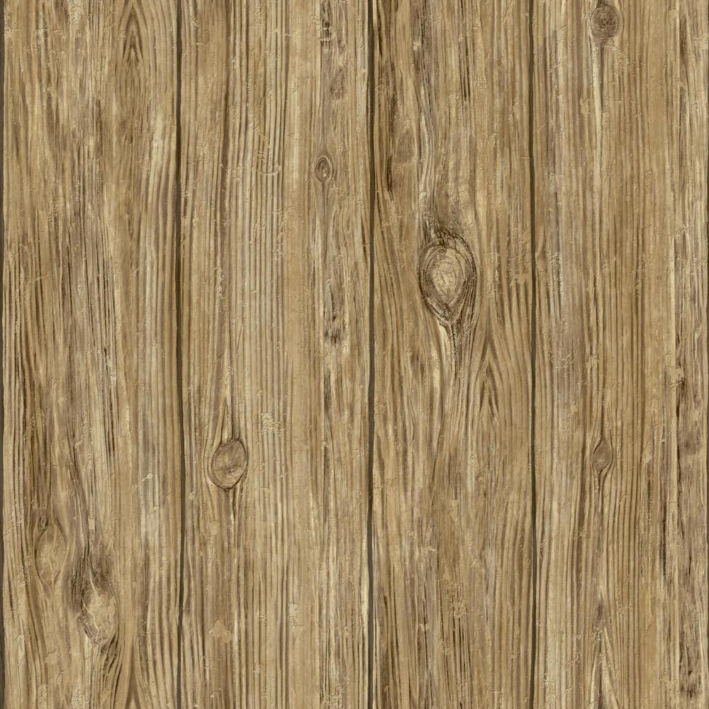 Mushroom Wood Vinyl Peelable Wallpaper (Covers 28.18 sq. ft.)