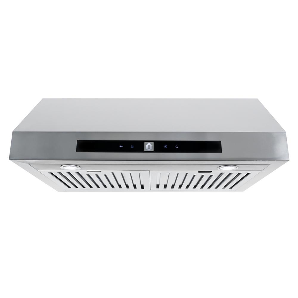 Cosmo 30 in. Ducted Under Cabinet Range Hood in Stainless...