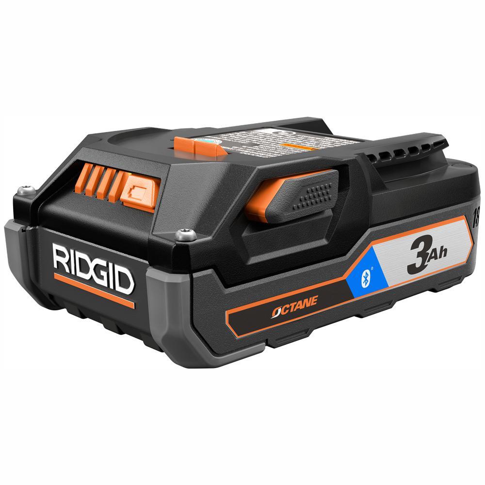 RIDGID 18-Volt OCTANE Bluetooth 3.0 Ah Battery
