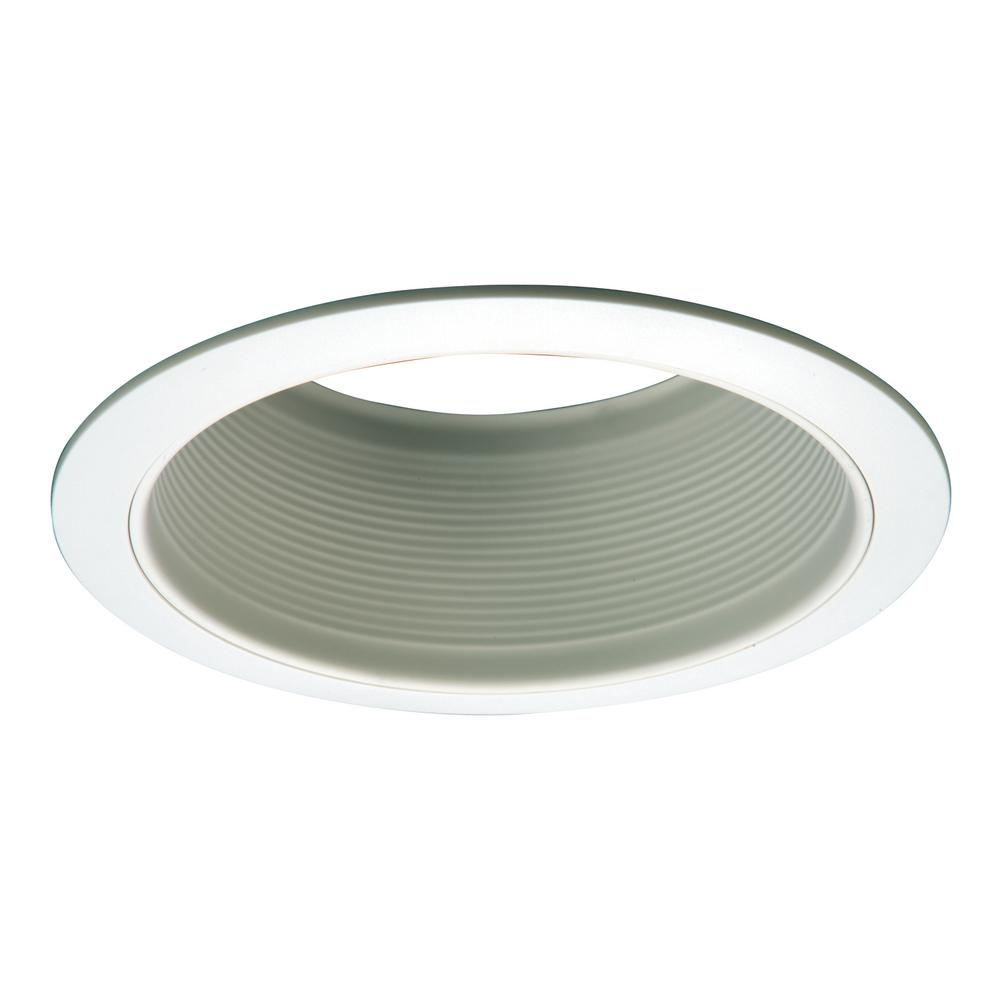 Halo E26 Series 6 in. White Recessed Ceiling Light Fixture Trim with ...