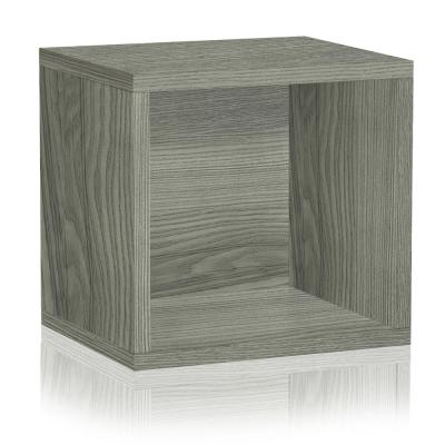 13 in. H x 13 in. W x 11 in. D Grey Recycled Materials 1-Cube Storage Organizer