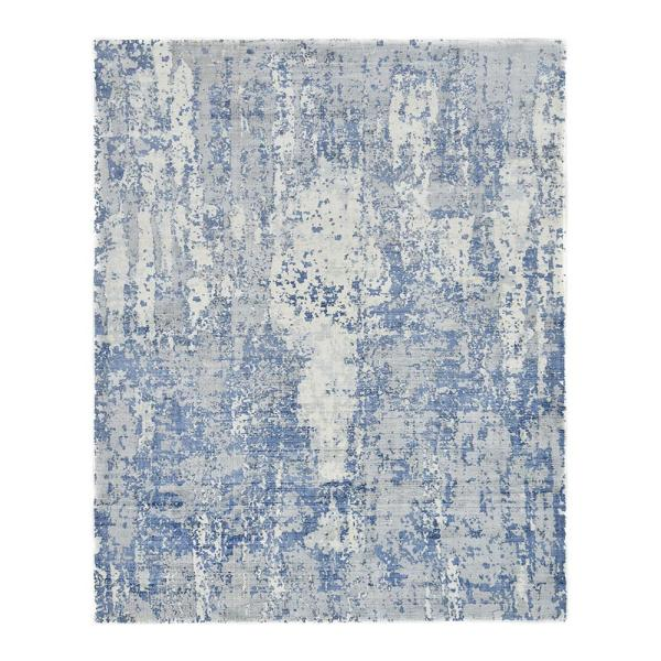 Kala Contemporary Cream 5 ft. x 8 ft. Loom Knotted Area Rug