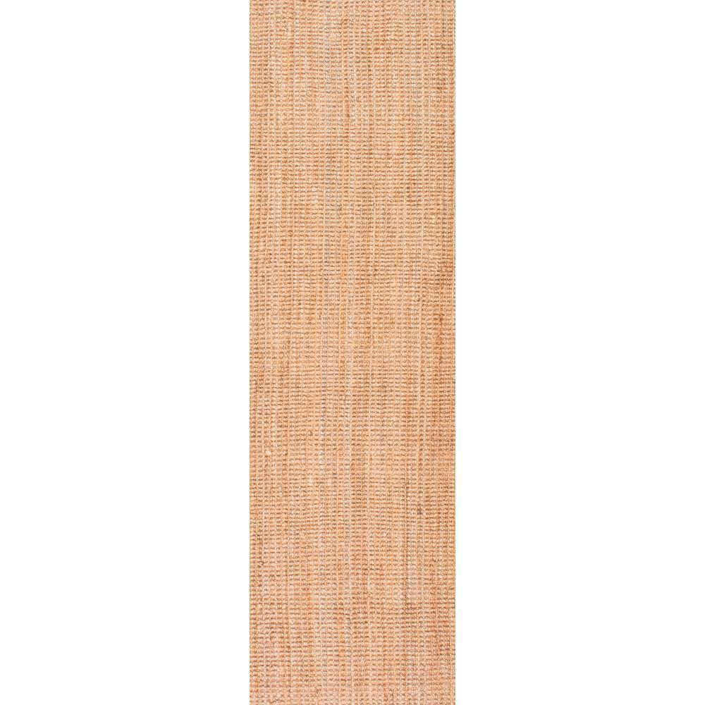 Ashli Solid Jute Natural 3 ft. x 12 ft. Runner Rug