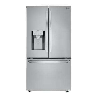 29.7 cu. ft. French Door Door-In-Door Smart Refrigerator w/Dual Icemaker and Wi-Fi Enabled in PrintProof Stainless Steel