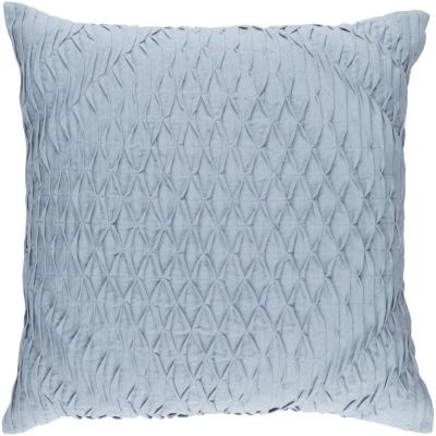 Arbutus Navy Geometric Polyester 18 in. x 18 in. Throw Pillow