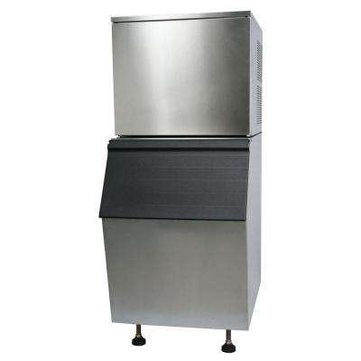 Commercial 330 lb. Freestanding Ice Maker in Stainless Steel