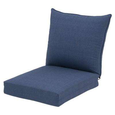 Sky Blue Rapid-Dry Deluxe 2-Piece Outdoor Deep Seating Cushion