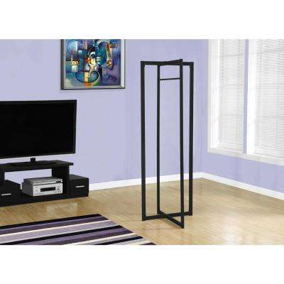 Black 0-Hook Coat Rack
