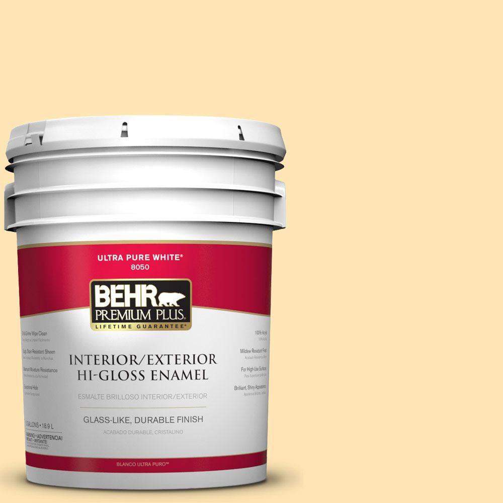 5-gal. #P260-3 Vanilla Ice Cream Hi-Gloss Enamel Interior/Exterior Paint