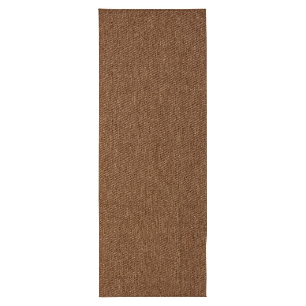 Ottomanson Jardin Collection Brown Solid Design Indoor