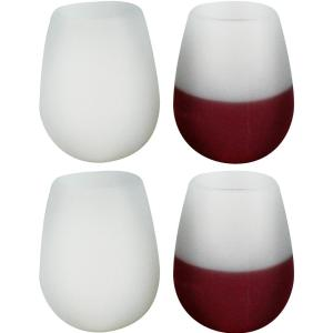 Click here to buy Southern Homewares Silicone 4-Piece Wine Glass Set by Southern Homewares.