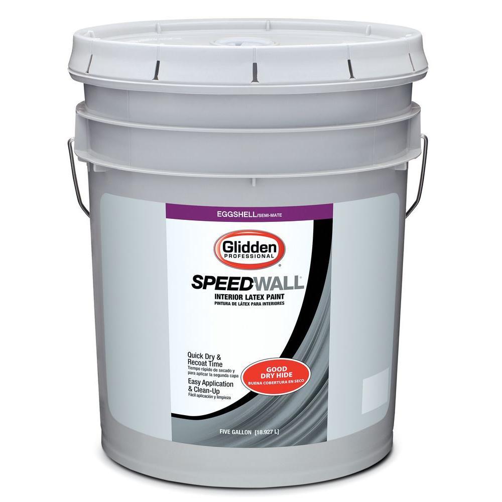 Glidden Professional 5 gal. Speed-Wall Swiss Coffee Eggshell Interior Latex Paint
