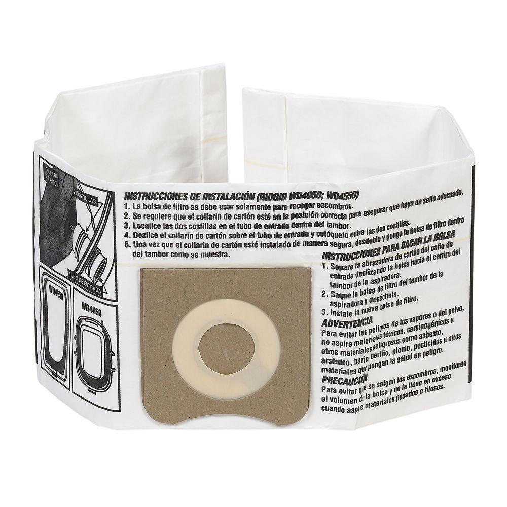 High-Efficiency Dust Bags for 3.0 Gal. to 4.5 Gal. Wet Dry Vacs (6-Pack)