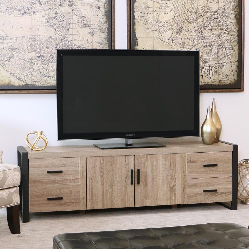 Ash Grey - TV Stands - Living Room Furniture - The Home Depot