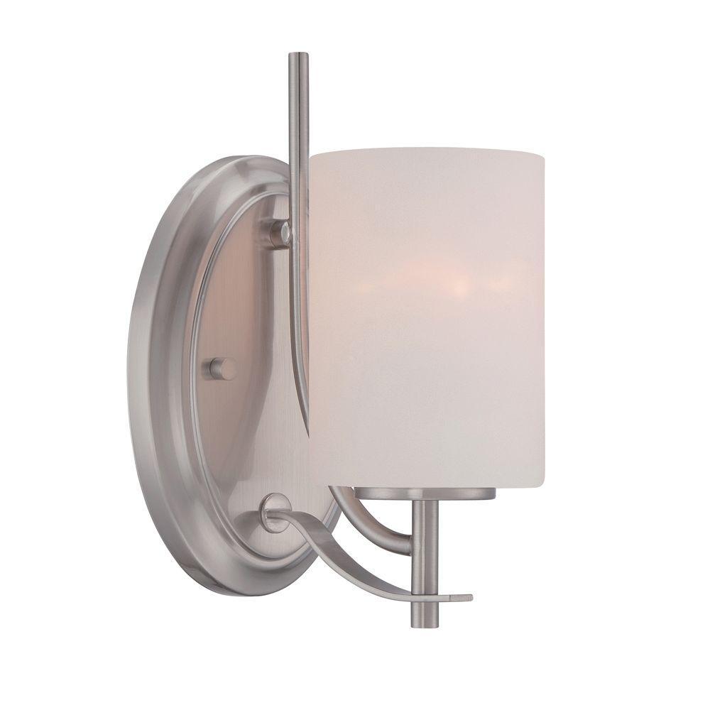 Cassina 1-Light Satin Platinum Wall Sconce