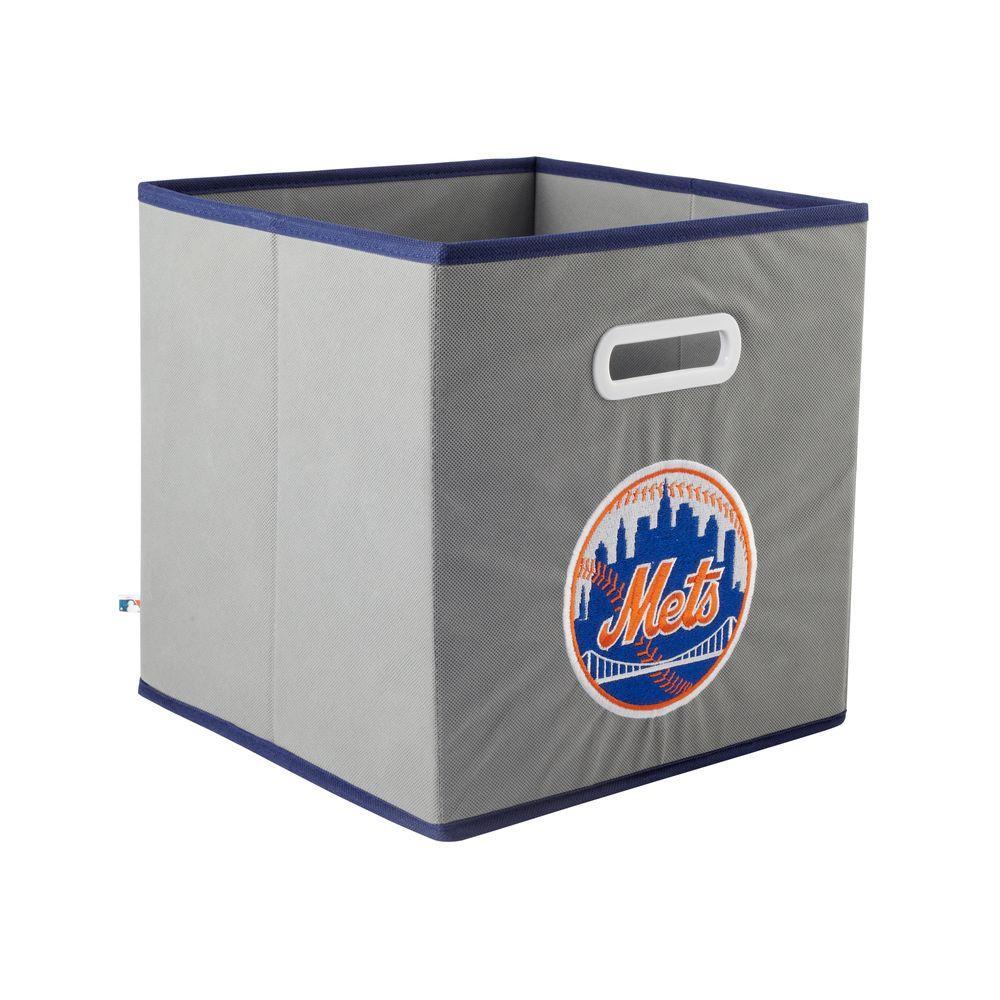 MyOwnersBox MLB STOREITS New York Mets 10-1/2 in. x 10-1/2 in. x 11 in. Grey Fabric Storage Drawer