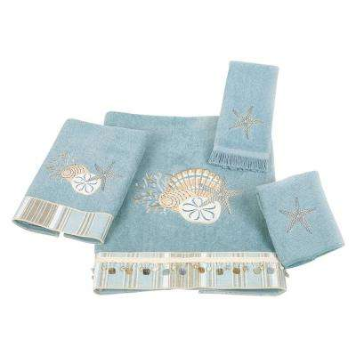 By The Sea 4-Piece Bath Towel Set in Mineral