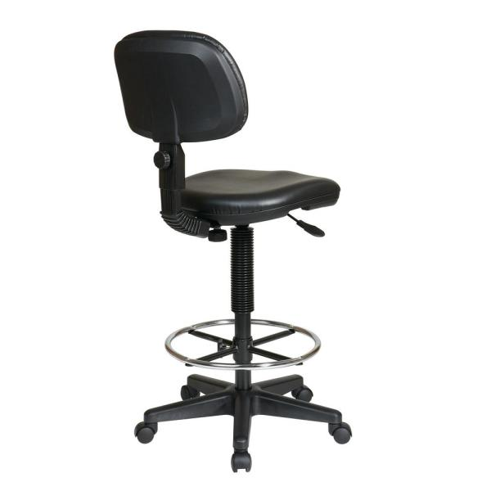 Black Vinyl Drafting Chair Dc517v