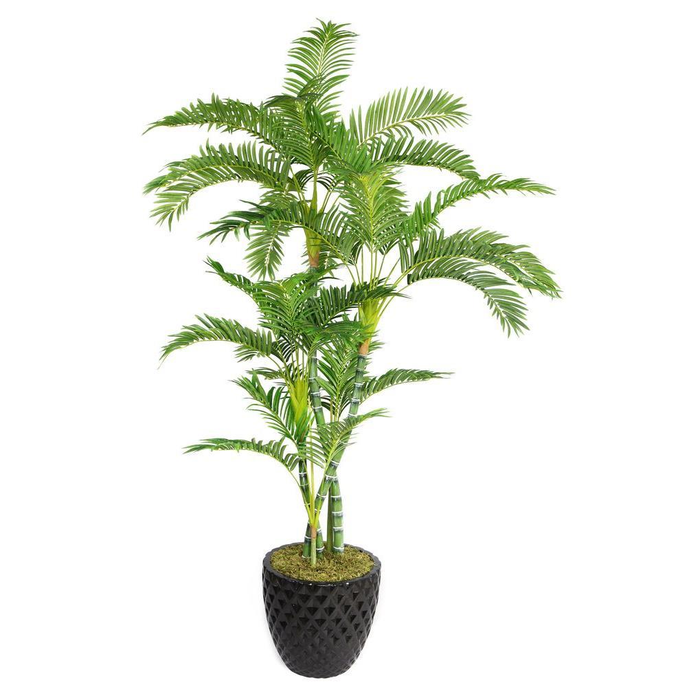 Laura Ashley 78 in. Tall Palm Tree in 16 in. Fiberstone