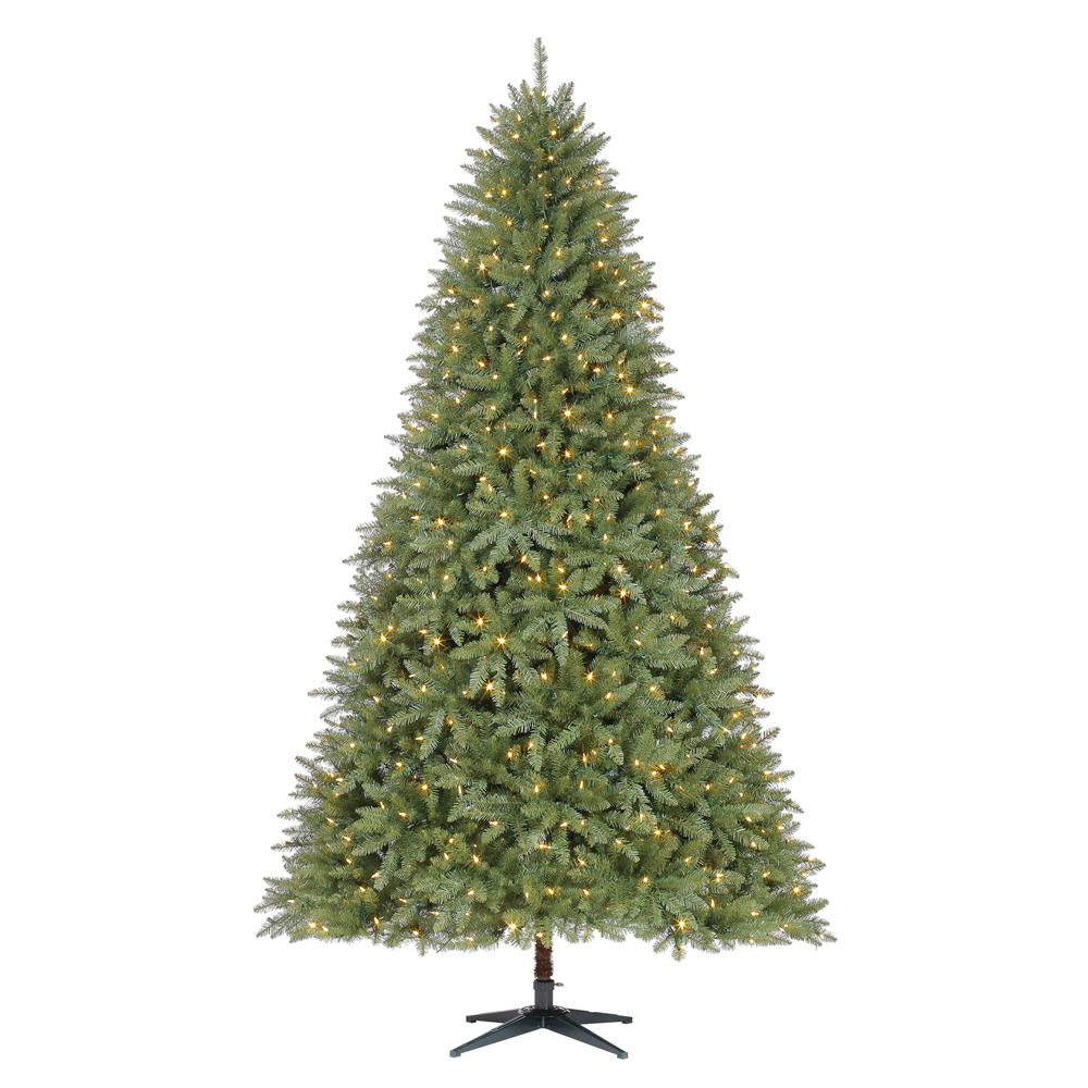 Pre Lit 9 Ft Christmas Tree: Home Accents Holiday 9 Ft. Pre-Lit LED Matthew Fir