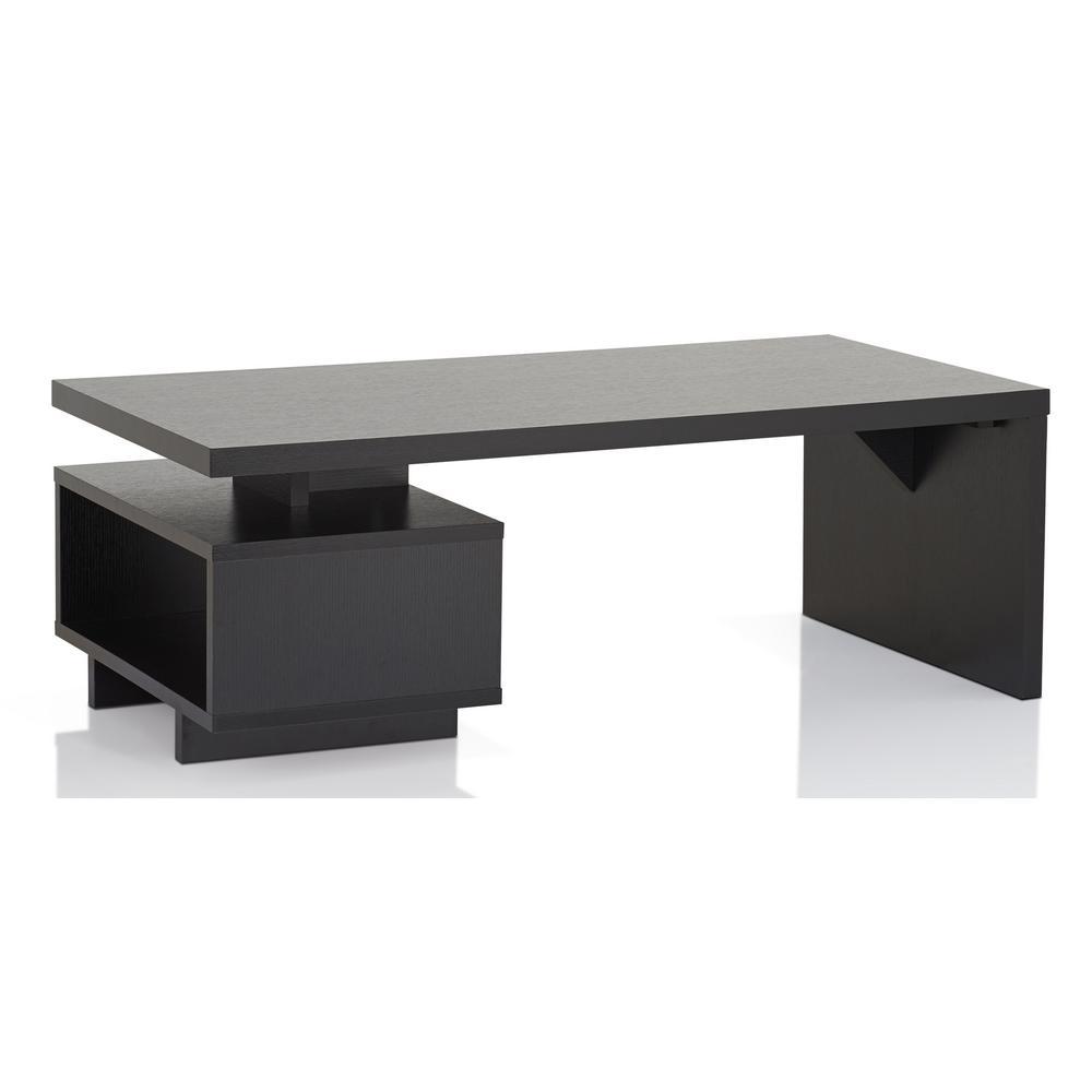 Percy Black Single Shelf Coffee Table