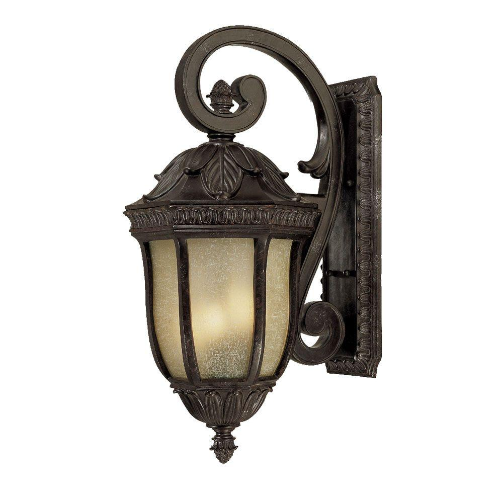 Acclaim Lighting Renaissance Collection Wall-Mount 4-Light Outdoor Marbelized Mahogany Light Fixture