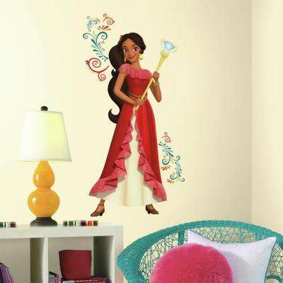 5 in. x 19 in. Princess Elena of Avalor Giant 9-Piece Peel and Stick Wall Decals