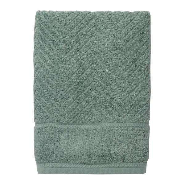 The Company Store Chevron Egyptian Cotton Single Hand Towel in Spa