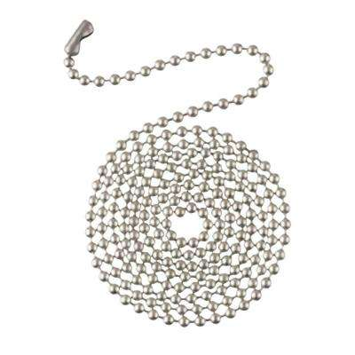 3 ft. Brushed Nickel Beaded Chain with Connector
