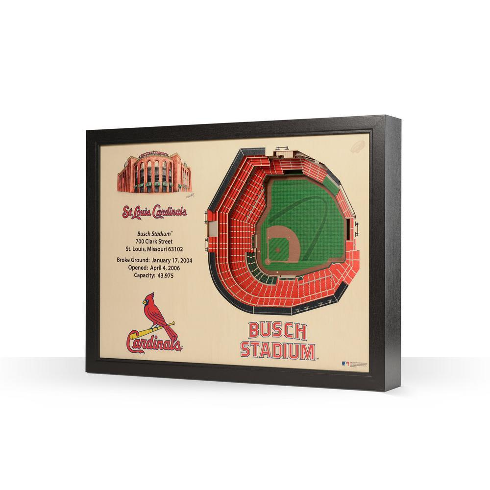 Youthefan Mlb St Louis Cardinals 25 Layer Stadiumviews 3d Wooden Wall Art 9022800 The Home Depot