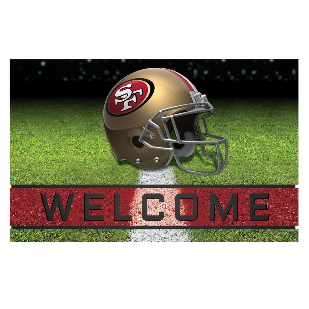 NFL - San Francisco 18 in. x 30 in. Rubber Door Mat