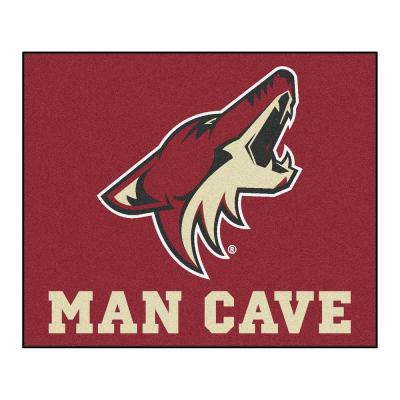 Phoenix Coyotes Red Man Cave 5 ft. x 6 ft. Area Rug