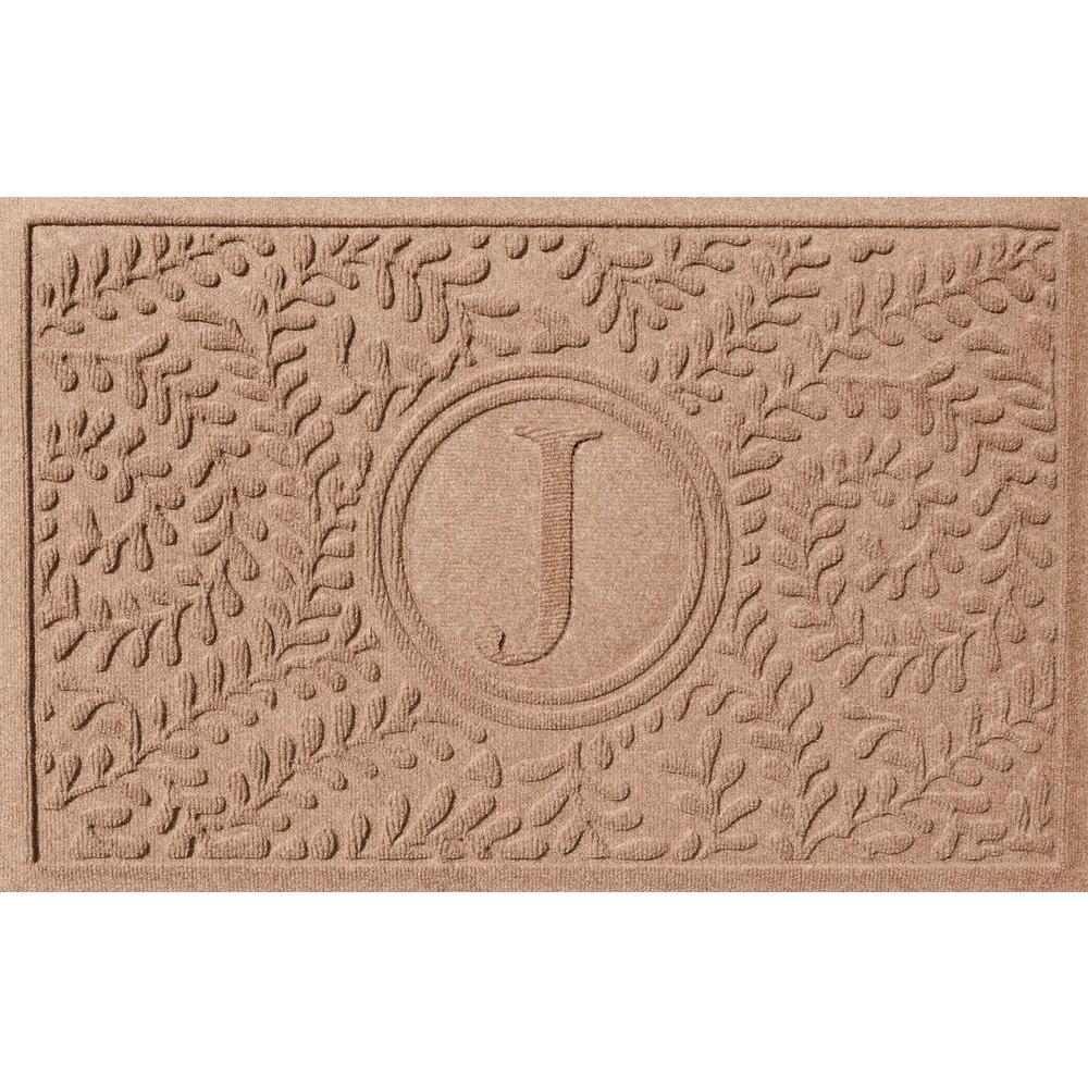 Boxwood Medium Brown 24 in. x 36 in. Monogram J Door