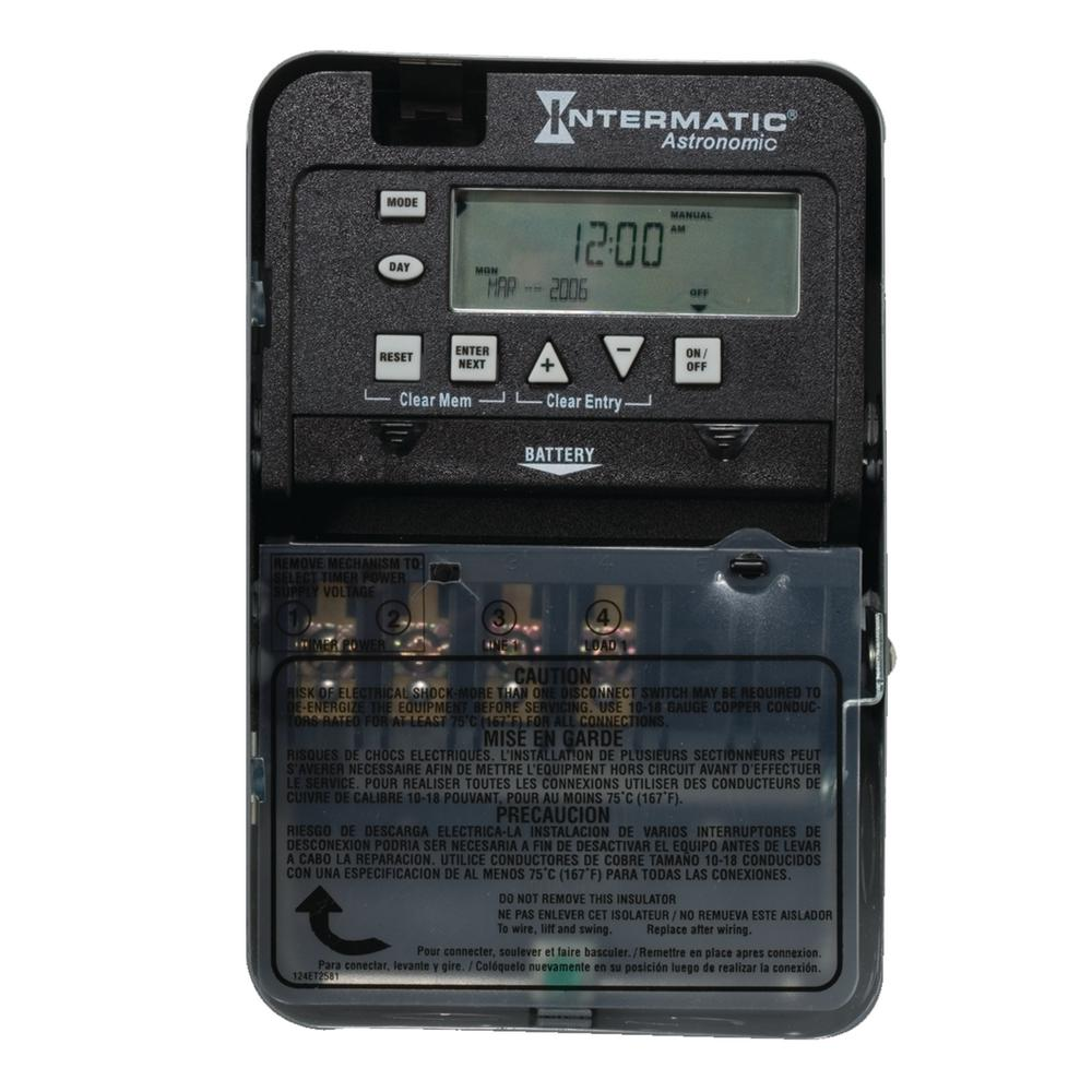 Intermatic 30 Amp 7-Day SPST 1-Circuit Astronomic Time Switch