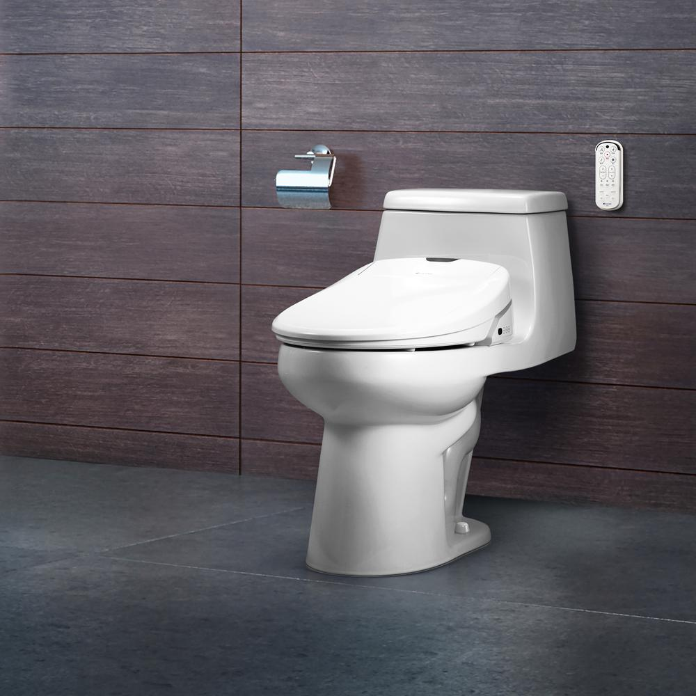 Brondell Swash 1400 Luxury Electric Bidet Seat For Elongated Toilet In White S1400 Ew The Home Depot