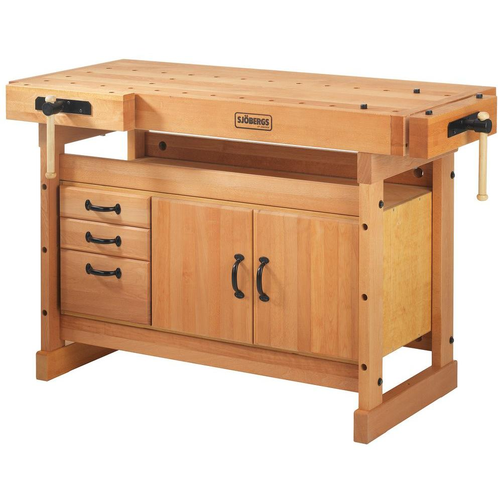 Stupendous Sjobergs Scandi Plus 4 Ft X 9 In Workbench With Sm03 Storage Cabinet Combo Kit Short Links Chair Design For Home Short Linksinfo