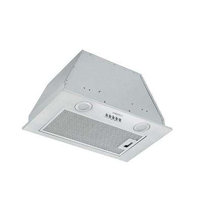 20 in. 450 CFM Ducted Insert Range Hood with LED lights in Stainless Steel